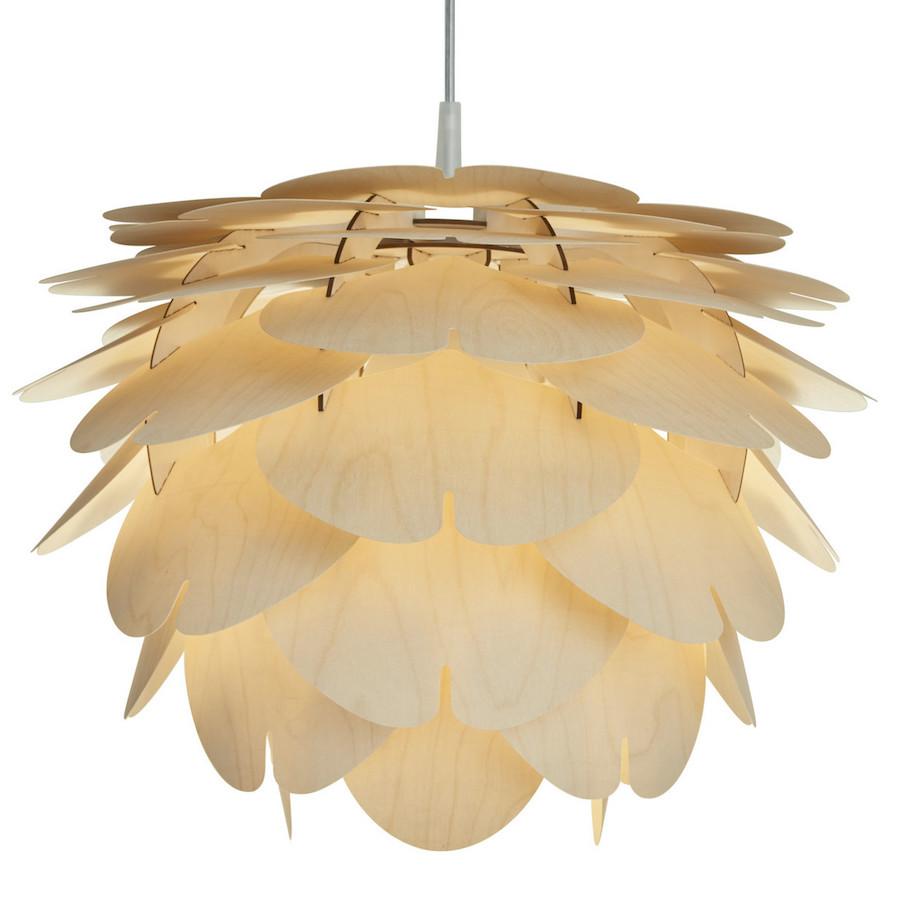 Aiko lampa wisząca wykonana z cienkiej sklejki