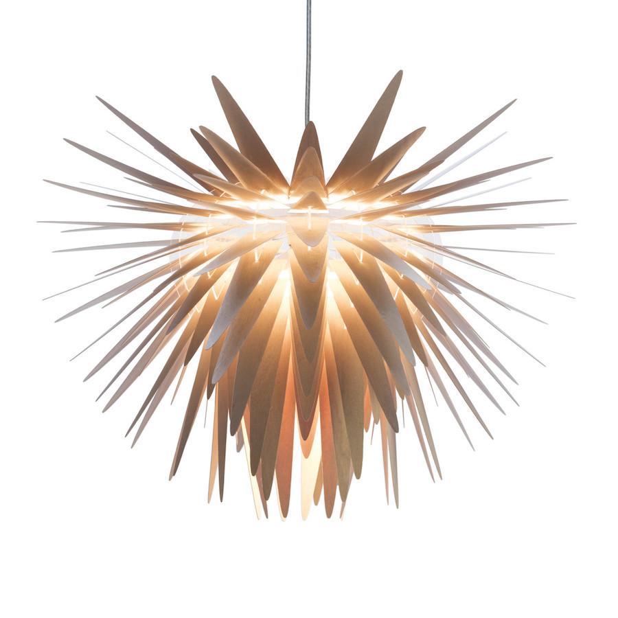 Nowoczesna drewniana lampa wisząca Teazzle