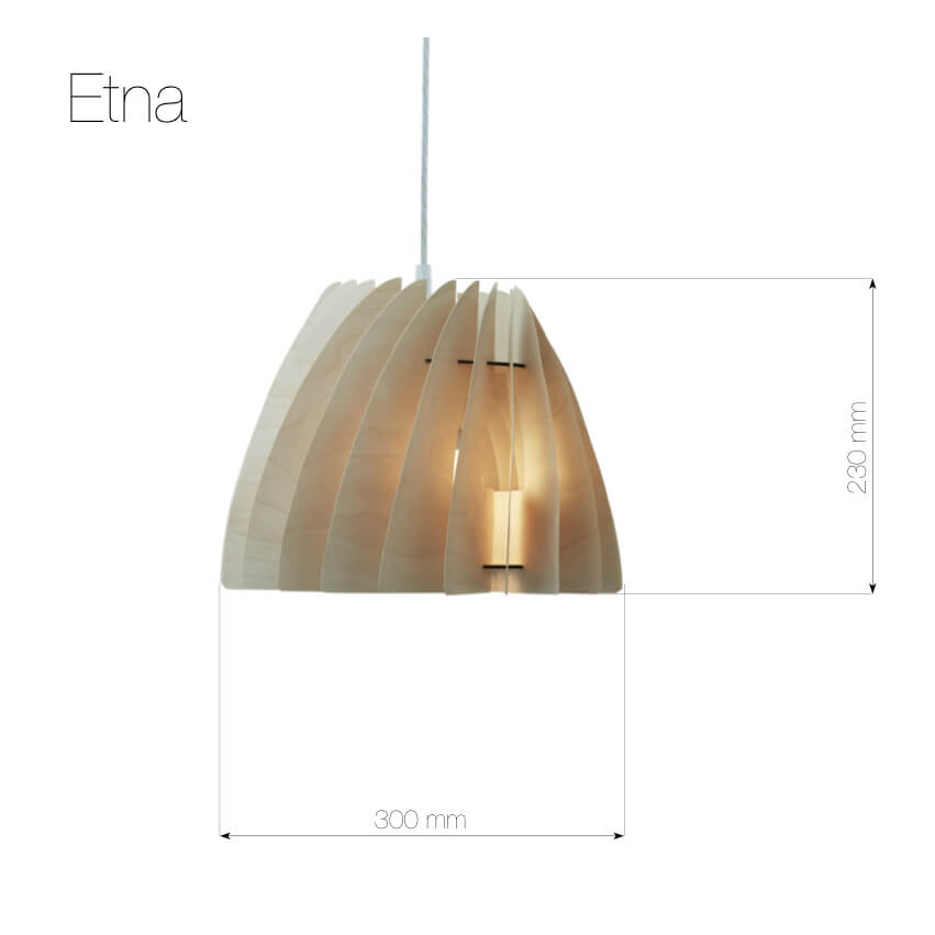 Etna nieduża lampa wisząca wykonana ze sklejki