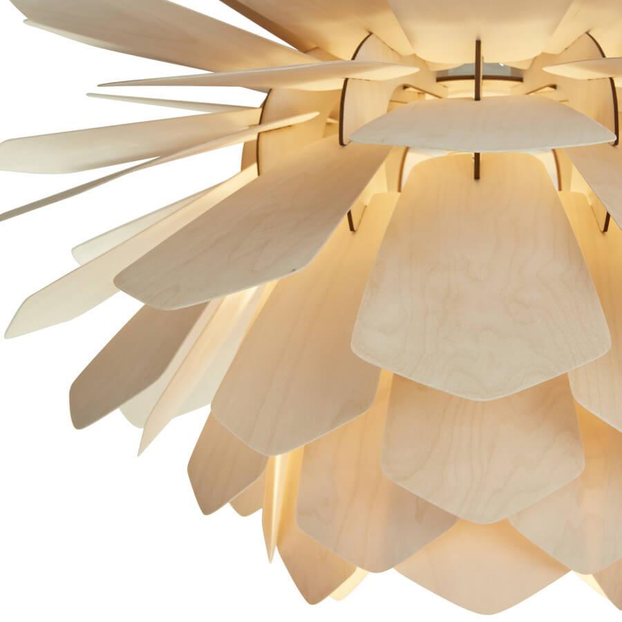 La Pigne drewniana lampa wisząca