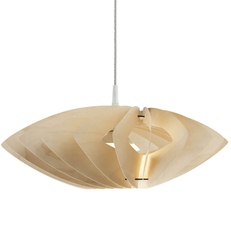 Margarita lampa wisząca wykonana z cienkiej sklejki