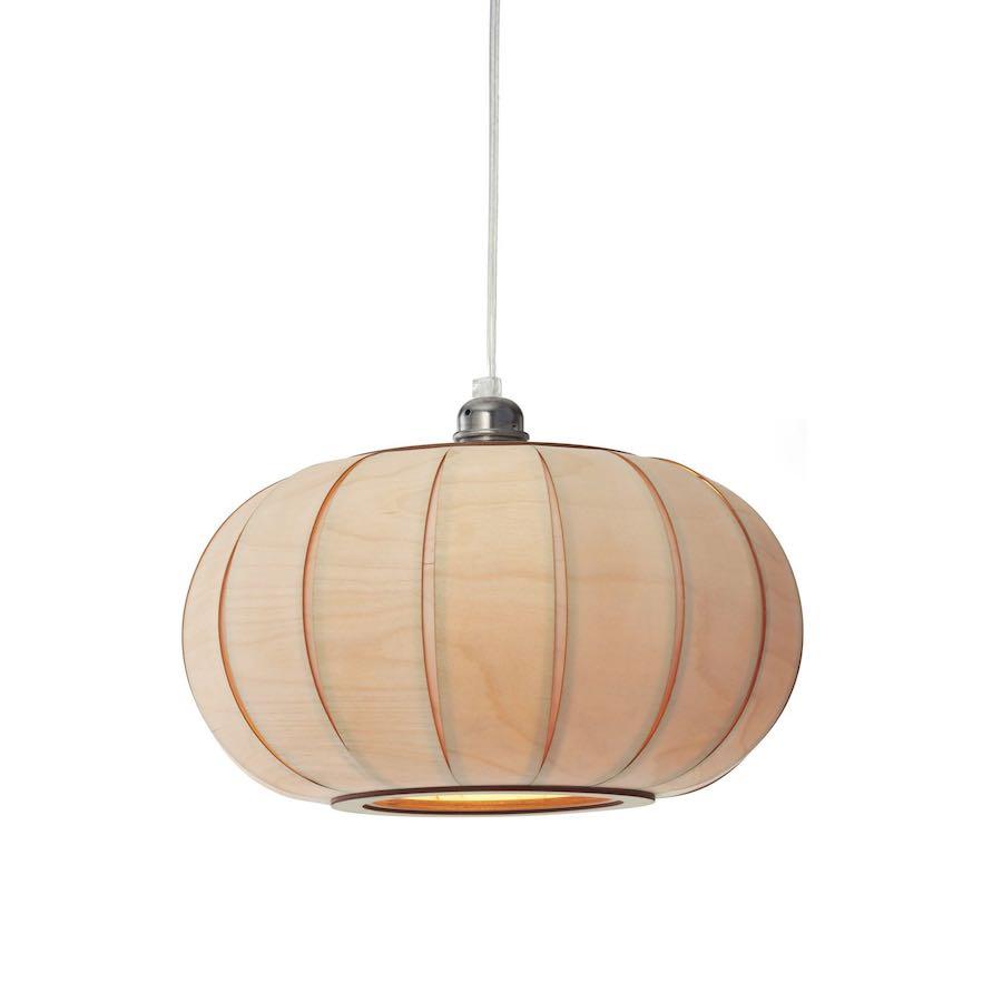 Tangerine 35 - mała lampa drewniana