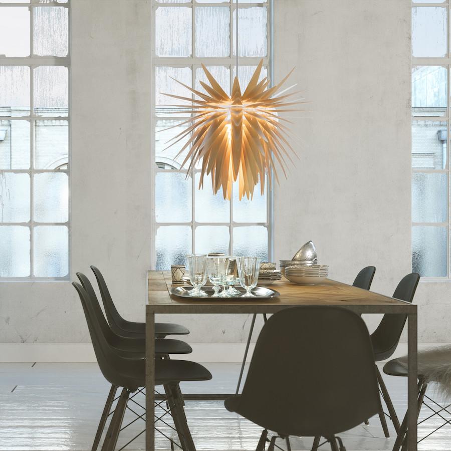 Teazzle nowoczesna drewniana lampa wisząca
