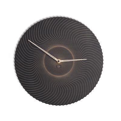 Abstrakcyjny drewniany zegar ścienny N˚ 7 BK
