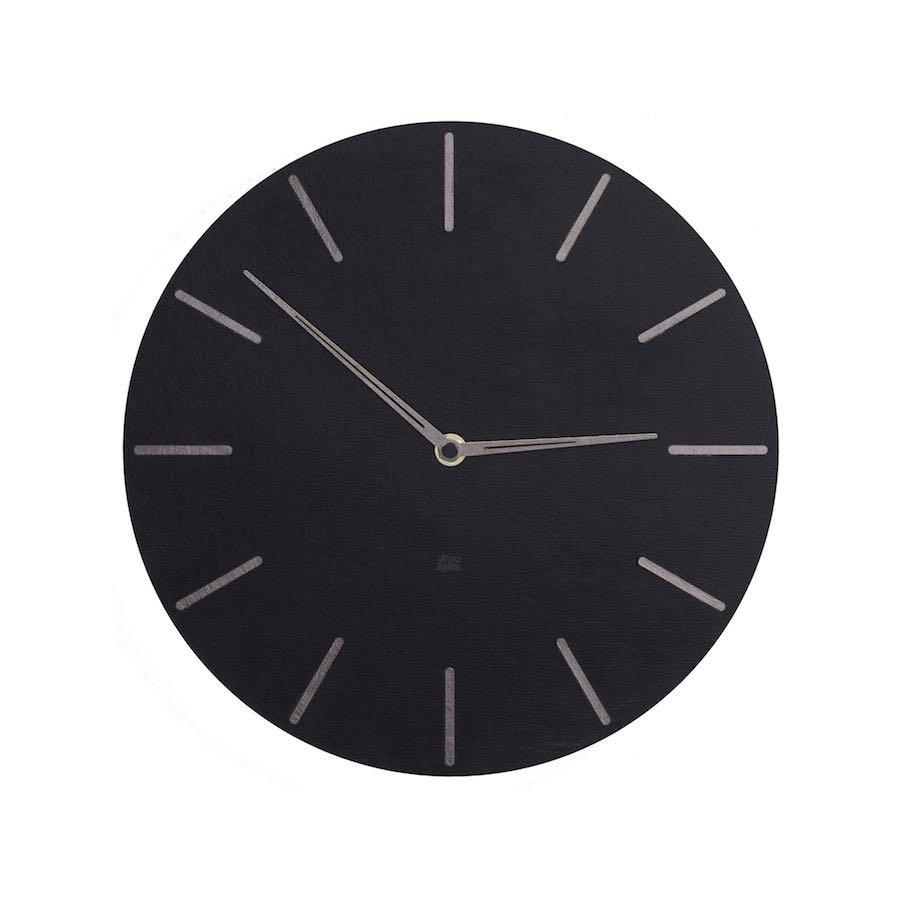 Czarny zegar ścienny N˚ 2.1 BS