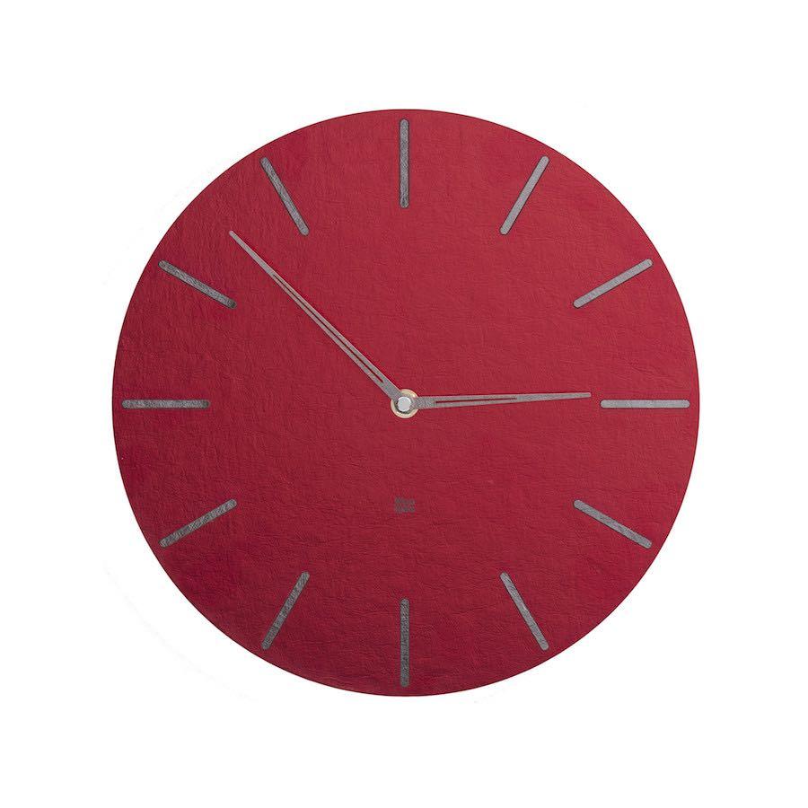 Zegar ścienny czerwony N˚ 2.1 RS