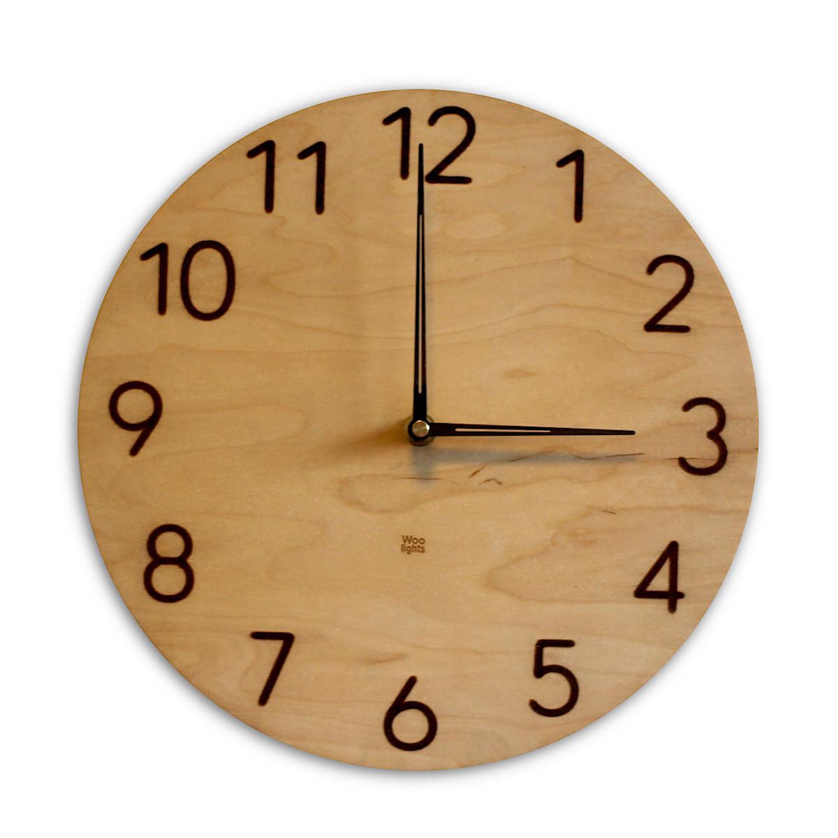 Zegar ścienny duże arabskie cyfry N˚ 3