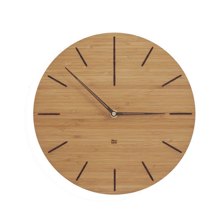 Zegar z drewna bambusowego N˚ 2 DB
