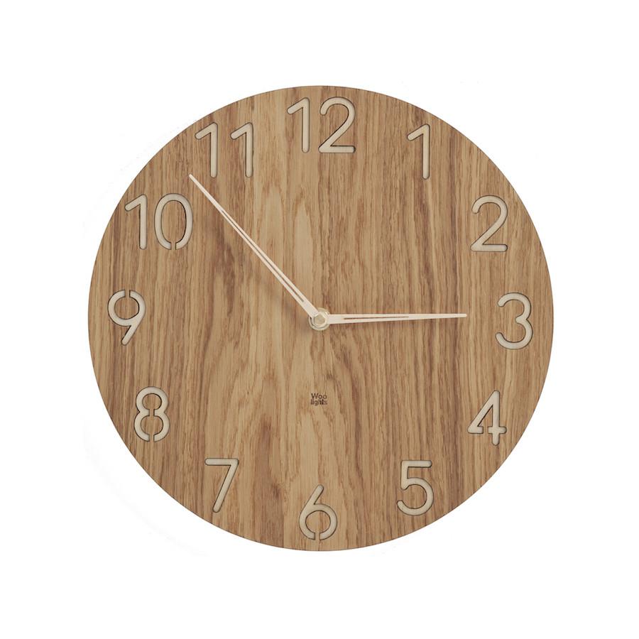 Zegar drewniany z dużymi cyframi N˚ 3.1 OB