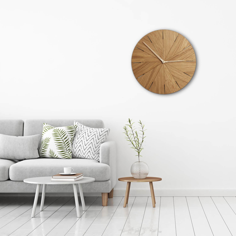 Ogromnie Duży drewniany zegar do salonu HD16