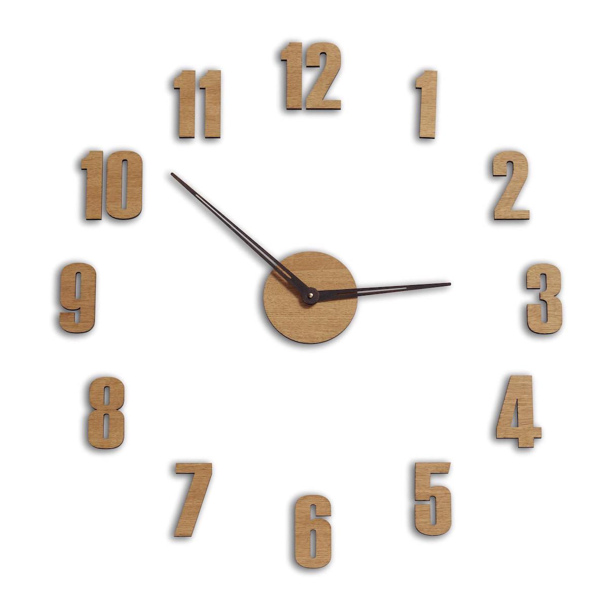 Duży Zegar ścienny Do Salonu Naklejany